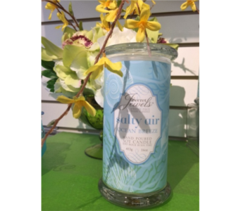 Candle With a Jewel in Brampton ON, Flower Delight