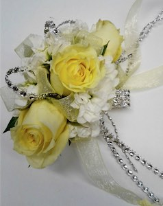 Yellow Rose Corsage in Ypsilanti MI, Norton's Flowers & Gifts