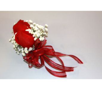 Double Rose Corsage in Mechanicville NY, Matrazzo Florist