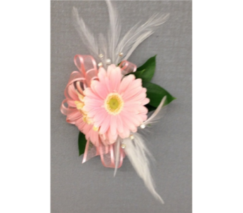 Pink Feather Corsage in Dearborn MI, Fisher's Flower Shop