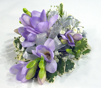 Purple Freesia Corsage in Aurora ON, Caruso & Company