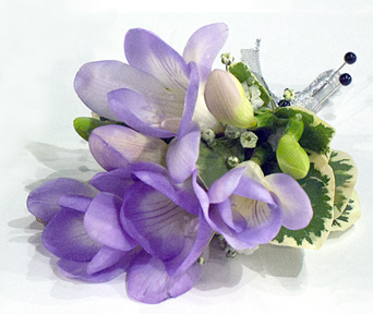 Purple Freesia Boutonniere in Aurora ON, Caruso & Company