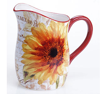 Paris Sunflower Pitcher in Campbell CA, Citti's Florists