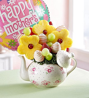 Time for Tea in Mount Morris MI, June's Floral Company & Fruit Bouquets
