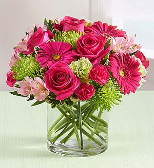 Pink Me Up! in Mount Morris MI, June's Floral Company & Fruit Bouquets