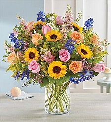 French Country Garden Bouquet in Mount Morris MI, June's Floral Company & Fruit Bouquets