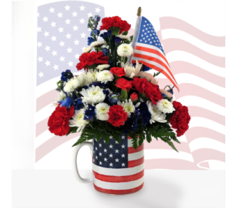 Patriotic Mug in Southfield MI, Thrifty Florist