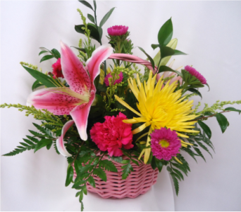 Mom's Delightful Basket Bouquet in Saratoga Springs NY, Dehn's Flowers & Greenhouses, Inc