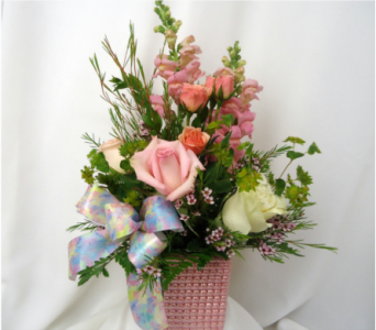Pinks For Mom Bouquet in Saratoga Springs NY, Dehn's Flowers & Greenhouses, Inc