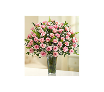 Long stem pink roses in Palm Bay FL, Beautiful Bouquets & Baskets