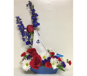 Sailor Boy Sailboat Arrangement in Wyoming MI, Wyoming Stuyvesant Floral