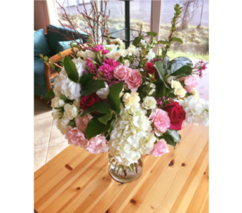 Pink and White Elegance in Bainbridge Island WA, Changing Seasons Florist