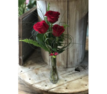 Triple Rose in Creedmoor NC, Gil-Man Florist Inc.