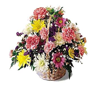 Basket of Spring in New York NY, CitiFloral Inc.