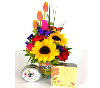 Mom's Love with Tea in Baltimore MD, Raimondi's Flowers & Fruit Baskets