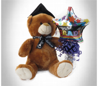 Graduation Candy Cube with Bear in Southfield MI, Thrifty Florist