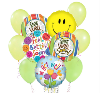 Get Well Fast! Balloon Bouquet in San Antonio TX, Dusty's & Amie's Flowers