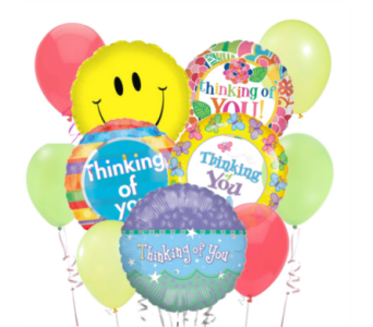 Thinking of You Greatly! Balloon Bouquet in San Antonio TX, Dusty's & Amie's Flowers