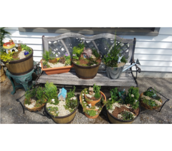 patio fairy gardens in Crown Point IN, Debbie's Designs