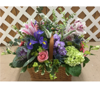 Summer Garden Basket in Purcellville VA, Purcellville Florist