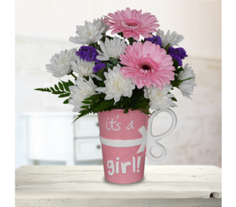 It's a Girl Mug in Dallas TX, In Bloom Flowers, Gifts and More