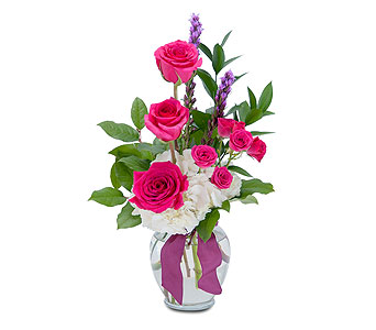 Popping Pink in Methuen MA, Martins Flowers & Gifts