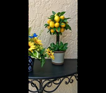 Lemon Tree Silk Topiary In The Villages FL, The Villages Florist Inc.
