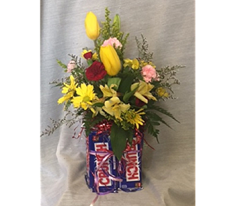 Candy and Flowers in Newton KS, Designs By John Flowers & Tuxedos, Inc