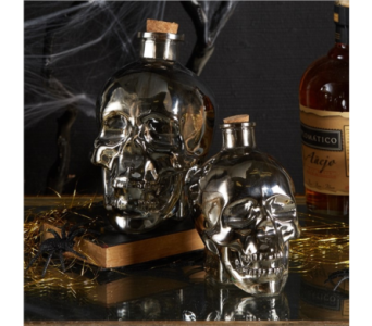TWO�S COMPANY SKULL BOTTLES in Bellevue WA, CITY FLOWERS, INC.