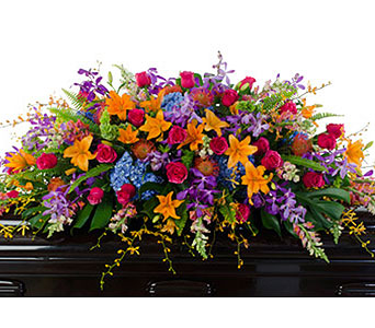 Fondly Remembered Casket Spray in Baltimore MD, Raimondi's Flowers & Fruit Baskets
