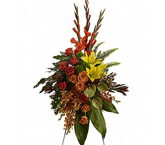 Tropical Tribute Spray in Baltimore MD, Raimondi's Flowers & Fruit Baskets
