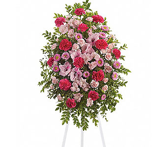Pink Tribute Spray in Baltimore MD, Raimondi's Flowers & Fruit Baskets