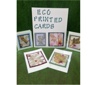 Eco Printed Cards in Durham NC, Flowers By Gary