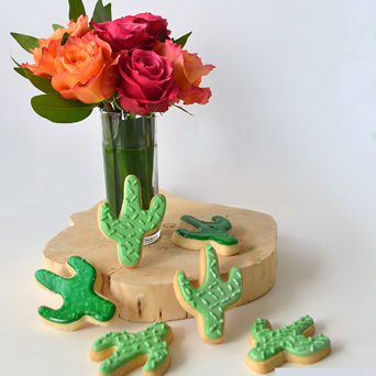 Paint Blooms   Cactus Cookies in Dallas TX, Dr Delphinium Designs & Events