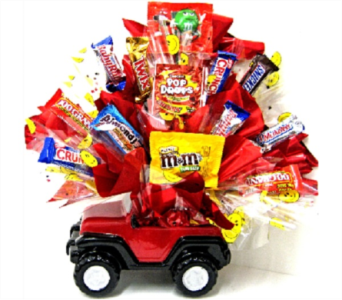The Sweet Jeep Candy Bouquet in Johnson City TN, Roddy's Flowers