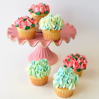 Blooming Cupcakes in Dallas TX, Dr Delphinium Designs & Events