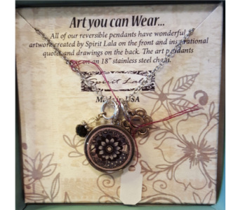 Spirit Lala Reversible Art Pendant in Neenah WI, Sterling Gardens