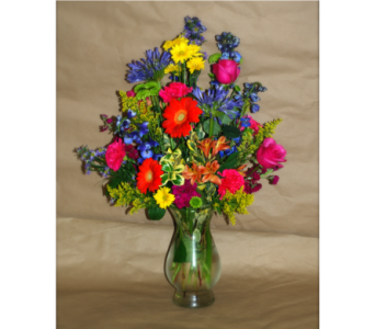 Mixed Summer Vase in Hales Corners WI, Barb's Green House Florist