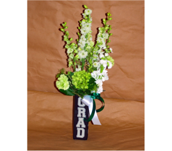 Graduation Vase in Hales Corners WI, Barb's Green House Florist