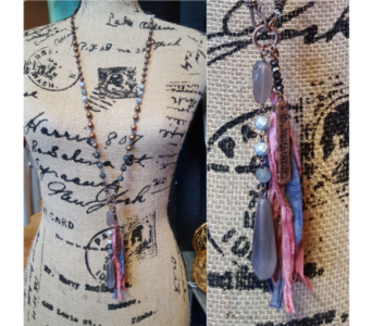 Blessed Necklace - Pink in Neenah WI, Sterling Gardens