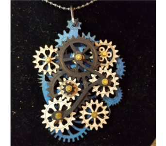Gear Garb-Kinetic Jewelry that Moves! - Blue in Neenah WI, Sterling Gardens