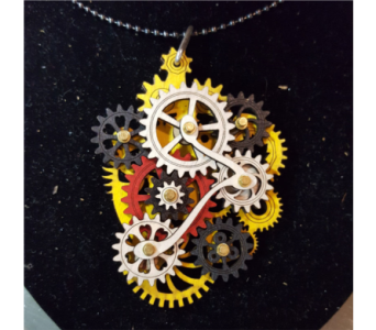 Gear Garb-Kinetic Jewelry that Moves! - Yellow in Neenah WI, Sterling Gardens
