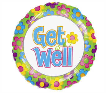 Get Well Floral Mylar Balloon in Norristown PA, Plaza Flowers