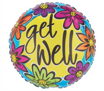 Get Well Colorful Mylar Balloon in Norristown PA, Plaza Flowers