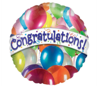 Congratulations Mylar Balloon in Norristown PA, Plaza Flowers