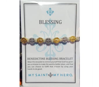 Benedictine Blessing Bracelet - Gold & Silver in Neenah WI, Sterling Gardens