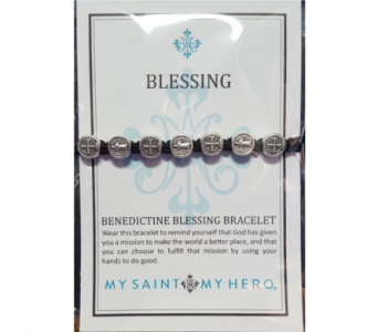 Benedictine Blessing Bracelet - Silver in Neenah WI, Sterling Gardens