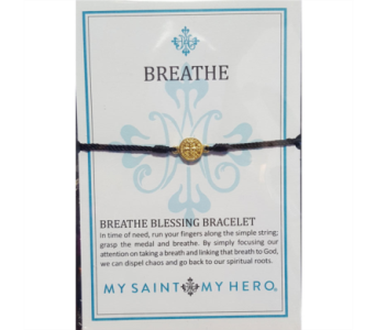 Breathe Blessing Bracelet - Gold in Neenah WI, Sterling Gardens