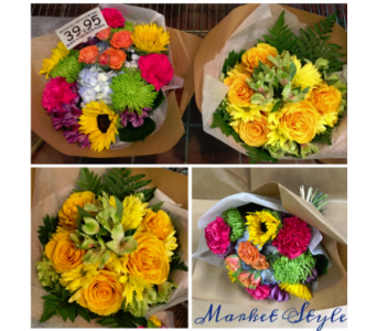 Designer's Choice Wrapped Bouquets in Edmonds WA, Dusty's Floral