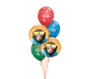 Chimp Birthday Bouquet in Chatham ON, Pizazz!  Florals & Balloons